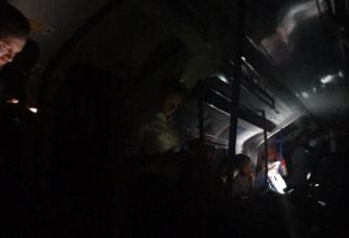 Calătorii din metrou au rămas blocați în tuneluri