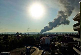 Incendiu la o firmă din Buzău
