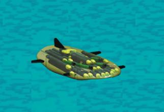 Nava concept MANTA UUV, imaginată de ingineri și tehnicieni