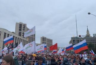 Presa rusă afirmă că numărul protestatarilor ar fi ajuns la 50.000 de oameni