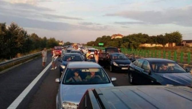 Accident pe A2 pe sensul spre Constanța