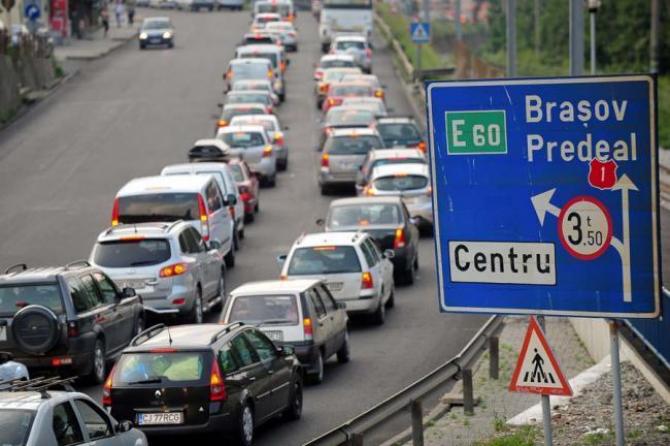 Trafic aglomerat pe DN1 între Ploiești și Brașov