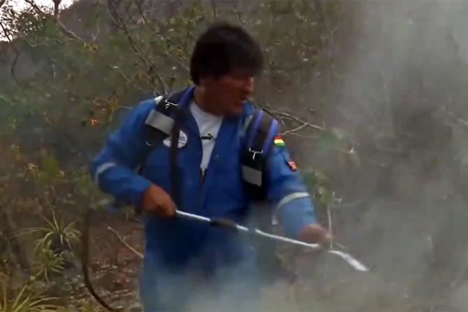 Evo Morales, președintele Boliviei