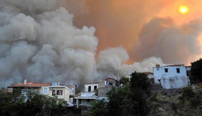 Mai mult de 50 de incendii au fost localizat în Grecia