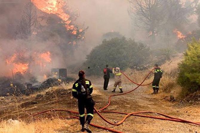 Incendiu în insula Evie