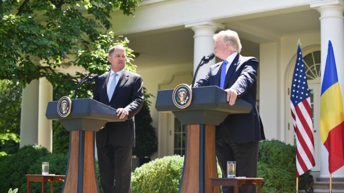 Klaus Iohannis și Donald Trump