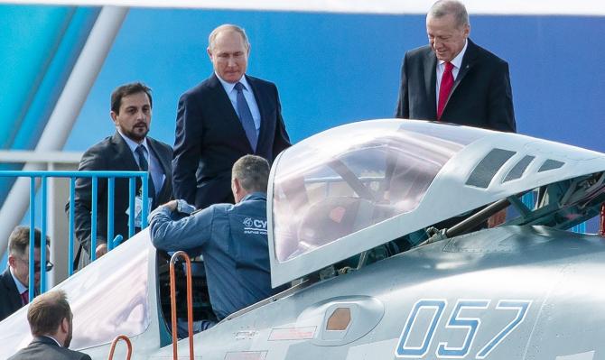 Putin i-a arătat lui Erdogan avionul de atac Su-57