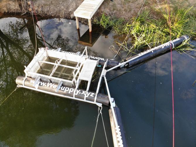Sistem de curățare a râurilor