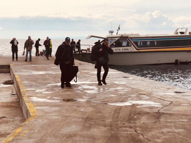 Furtună puternică în marea Egee