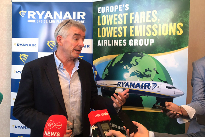 Michael O'Leary, CEO-ul Ryanair