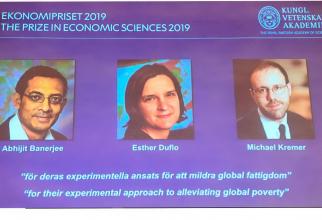 Abhijit Banerjee, Esther Duflo şi Michael Kremer au primit premiul Nobel pentru Economie