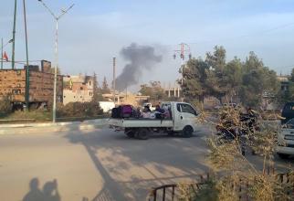 Civilii au început să fugă din calea bombardamentelor