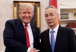 Trump și partenerul chinez de negocieri, Liu He