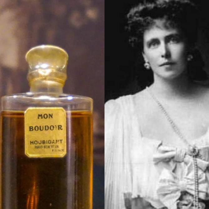 Parfum și apă de colonie, a cărei imagine a fost Regina Maria a României.