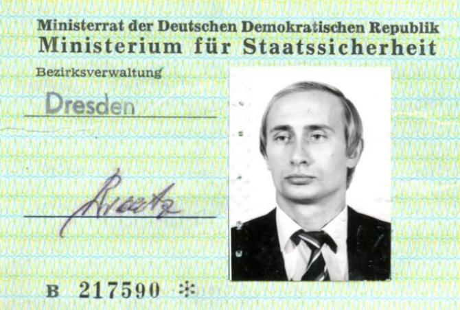 Legitimația de STASI a lui Vladimir Putin