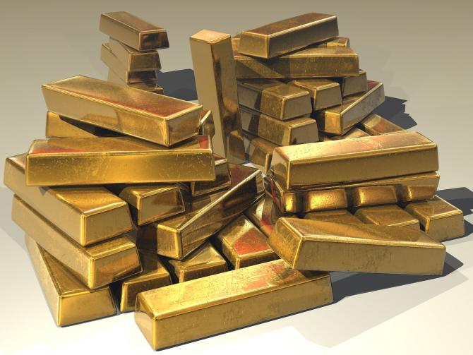 Cotaţia aurului a atins luni cea mai ridicată valoare din ultimele două săptămâni