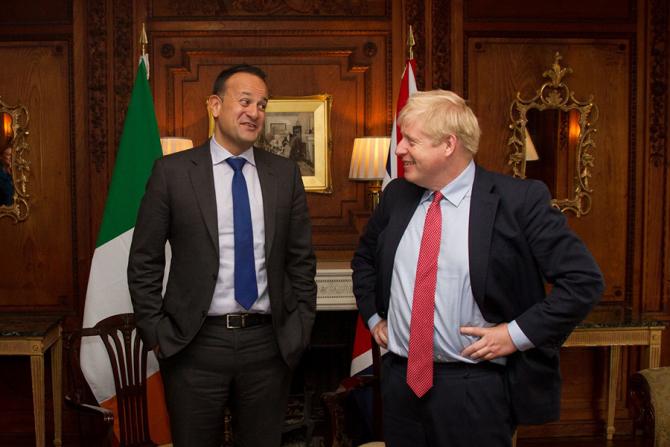 Leo Varadkar și Boris Johnson