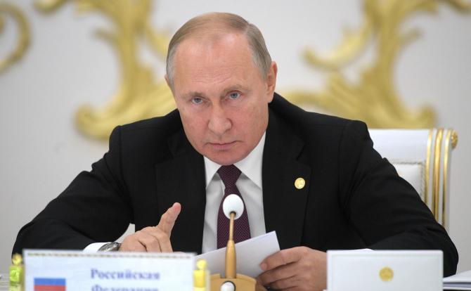 Preşedintele Rusiei Vladimir Putin