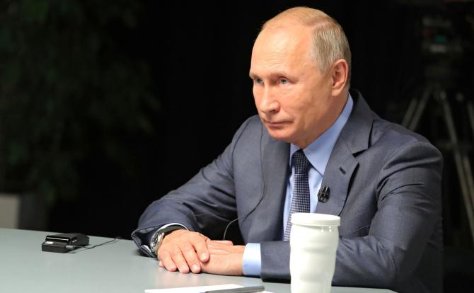 Vladimir Putin, în timpul unui interviu acordat Al Arabiya / Foto: kremlin.ru