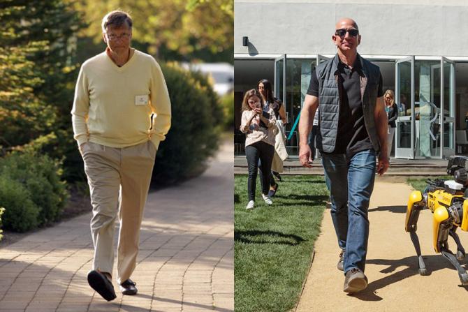 Bill Gates și Jeff Bezos