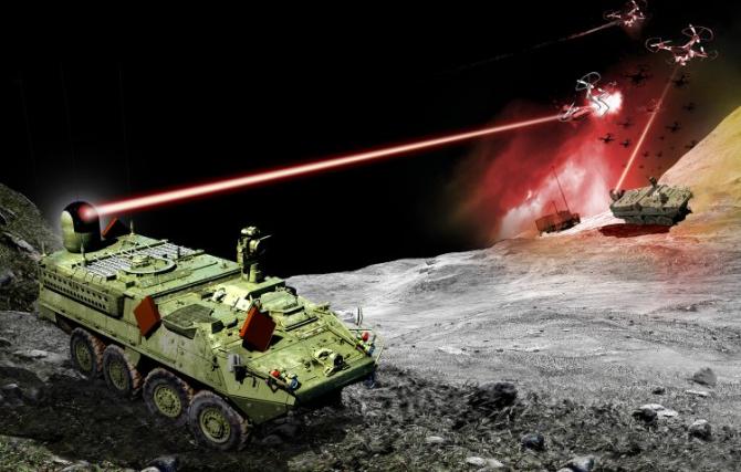 Blindatele Stryker vor fi dotate cu lasere
