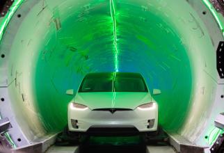Tunelul hyerloop al companiei Boring