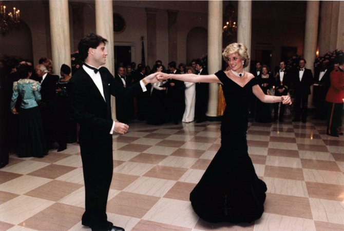 Prințesa Diana și John Travolta