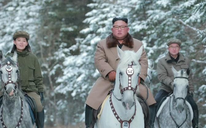 Liderul nord-coreean a fost din nou pe muntele sacru