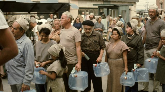 Imaine din filmul Soylent Green (1973), a fost ca o premoniție