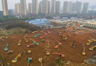 Chinezii au mai construit un spital, in 7 zile