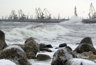 Vânt puternic pe litoral