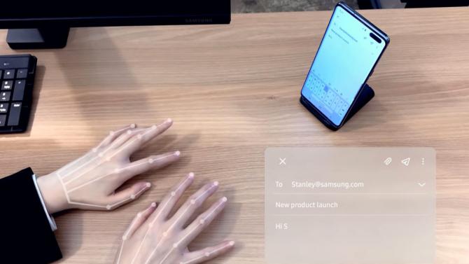 Samsung dezvoltă tastatura virtuală