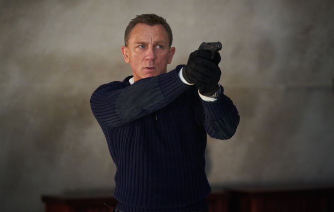 Daniel Craig în rolul lui James Bond din No Time To Die