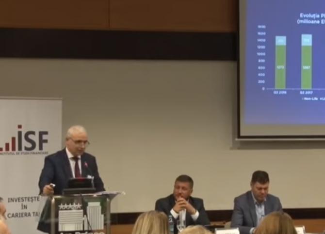 Adrian Marin, președintele UNSAR, a susținut un discurs la cea de-a patra Conferință Europeană a Serviciilor Financiare