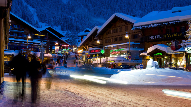 Verbier este una dintre cele mai scumpe stațiunui de schi din Elveția