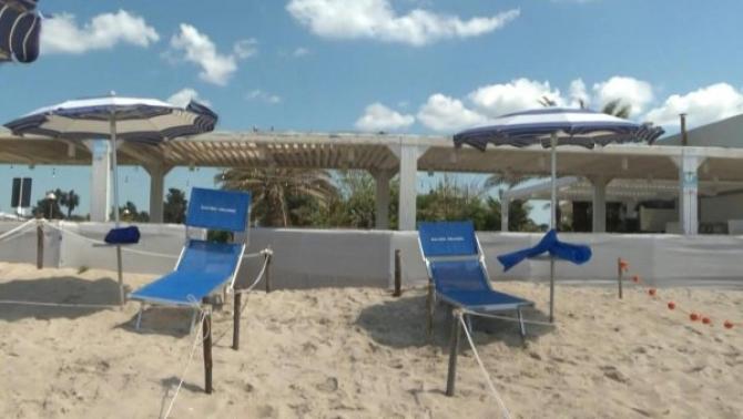 Plaja Knokke a fost dotată recent cu spaţii delimitate