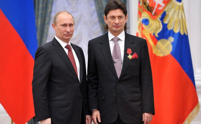 Vladimir Putin și Leonid Fedun