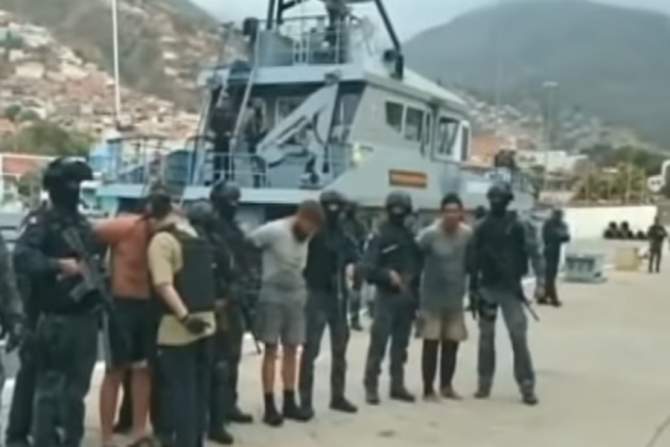 Mercenarii reținuți pe plaja Macuto