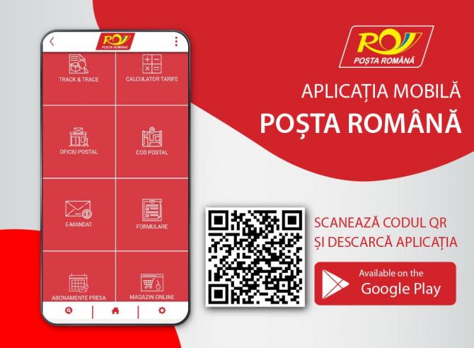 Serviciie Poștei Române pot fi accesate direct din aplicația mobilă
