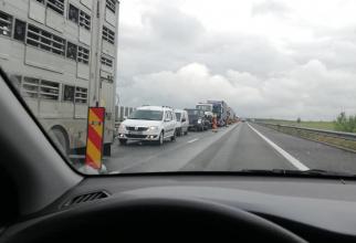 Centrul INFOTRAFIC din IGPR informează că luni, în intervalul orar 9,00 - 16,00, au loc lucrări de reparaţii pe autostrada soarelui,  A2 Bucureşti - Constanţa, astfel: