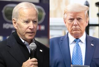 Joe Biden l-a depășit în sondaje pe Donald Trump