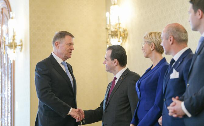 Klaus Iohannis și Ludovic Orban / Foto: presidency.ro