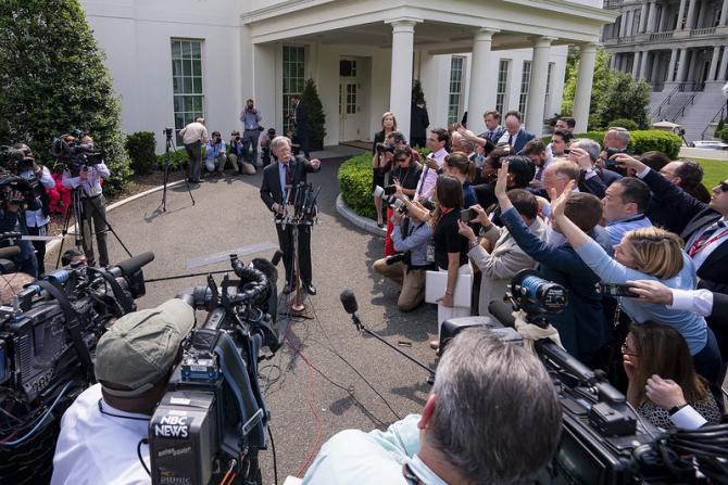 John Bolton pe vremea când era consilier pe probleme de securitate națională al Statelor Unite