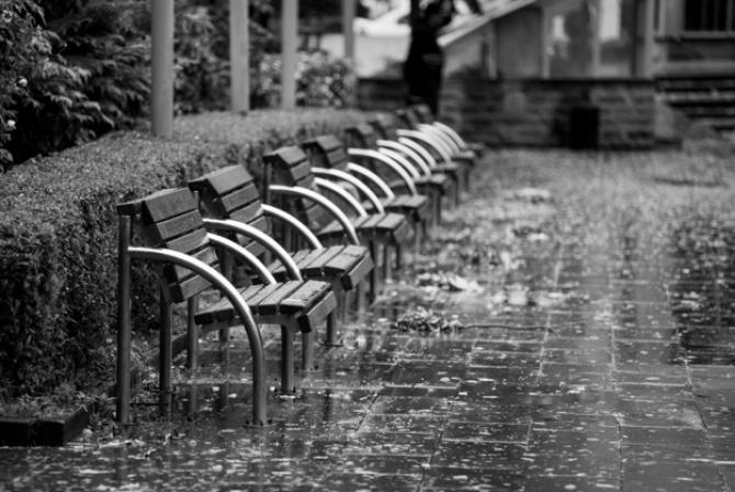 Umbrela devine accesoriu obligatoriu