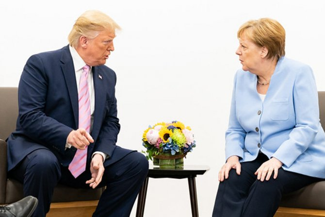 Donald Trump și Angela Merkel