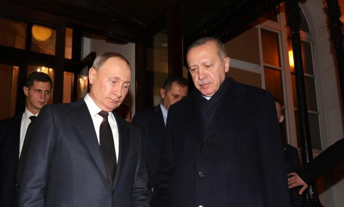 Vladimir Putin și Recep Tayyip Erdogan