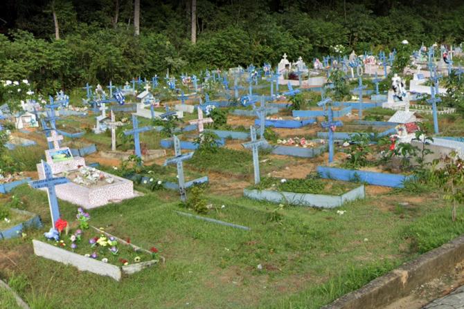 Cimitirele din Manaus, Brazilia, copleșite de numărul uriaș de morți. Toate aceste morminte sunt noi și sunt doar o mică parte
