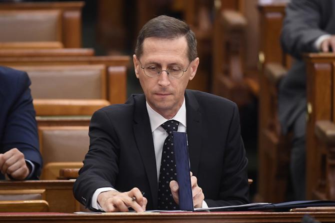 Ministrul ungar de Finanțe, Varga Mihály / Foto: MTI