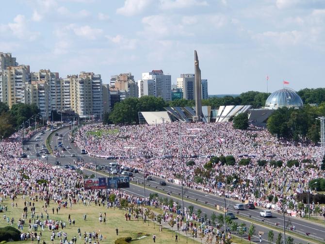 Protest uriaș în Minsk
