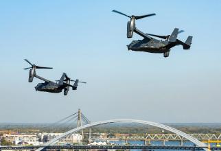 CV-22 Osprey zborând la joasă altitudine